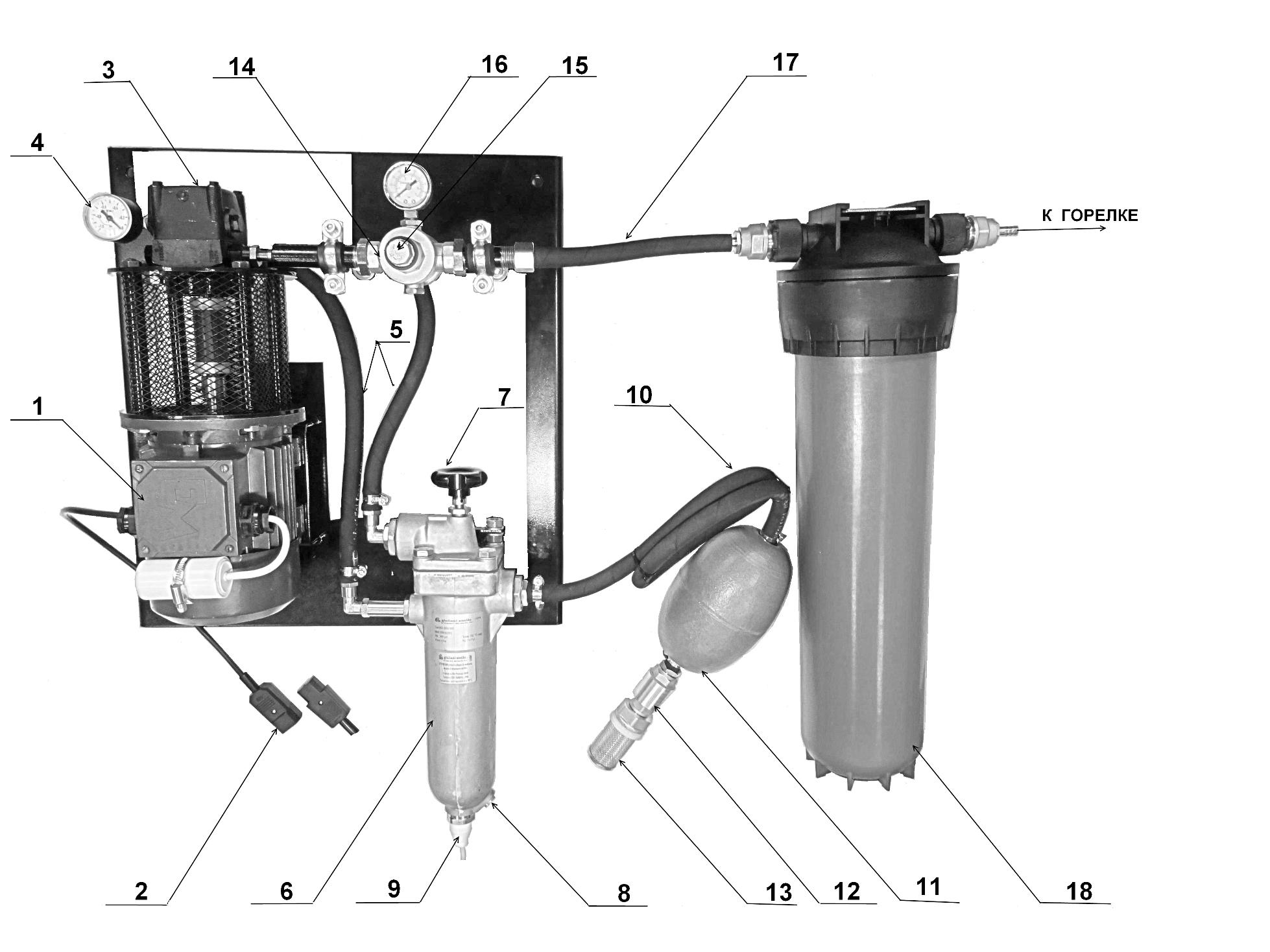 Схема топливоподачи в горелках AL